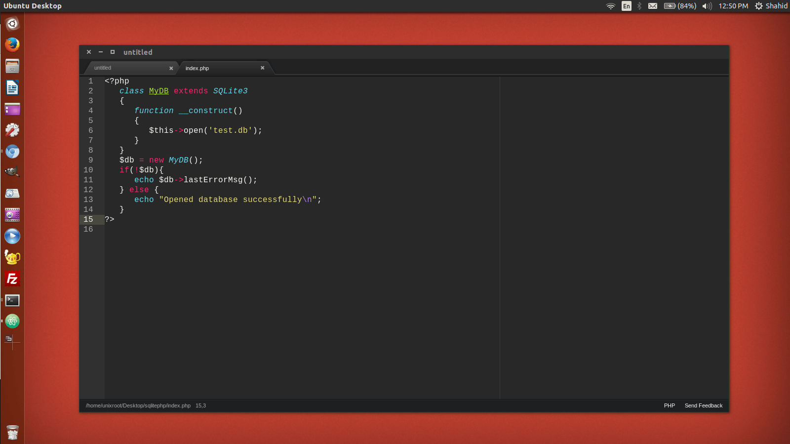 Atom editor in Ubuntu