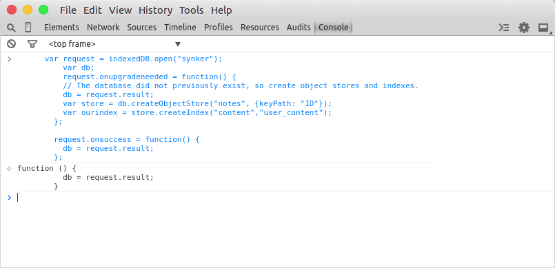 Execute code from Developer console.