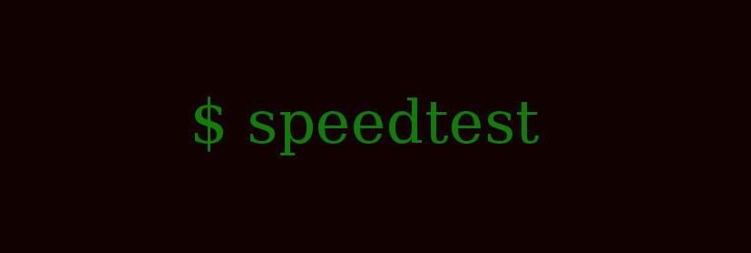 Develop speedtest command line app using Node