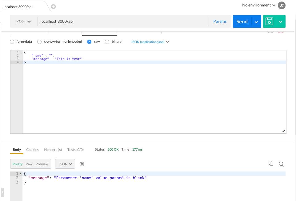 Payload validation nodejs