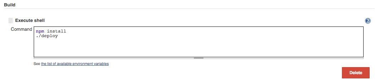 Adding deployment script
