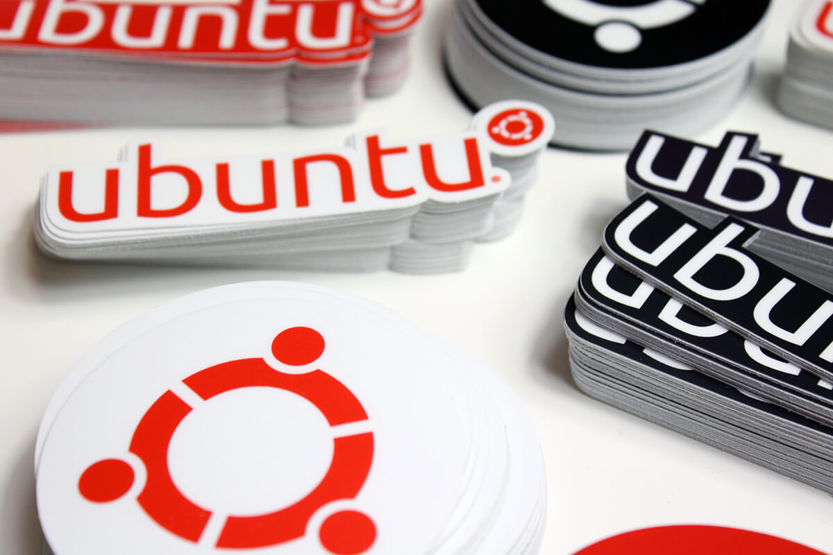 ubuntu closeup stickers