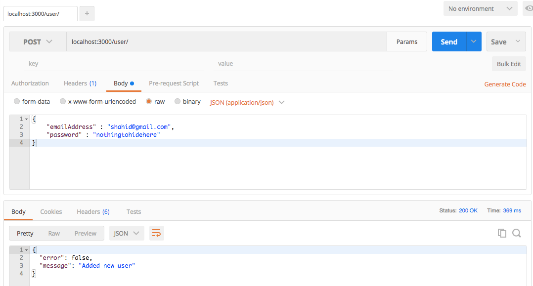 User RethinkDB