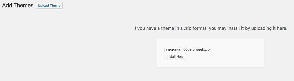 build WordPress theme
