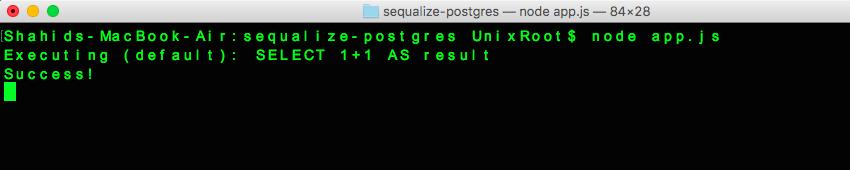 Sequelize and postgresql