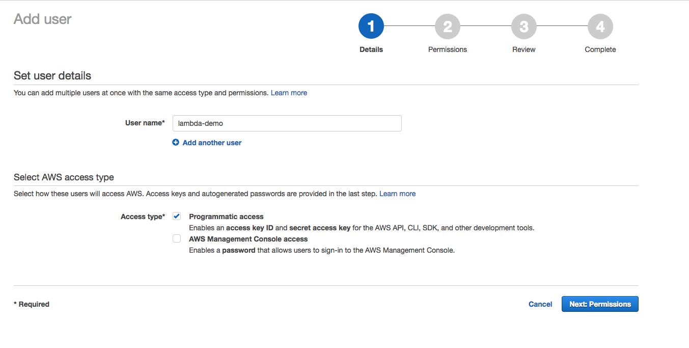 Serverless Application Using AWS Lambda