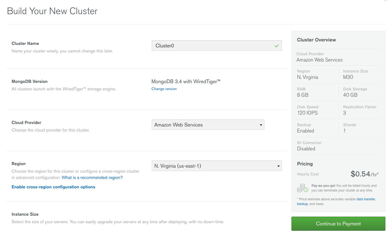 MongoDB Atlas Cluster