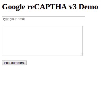 Google reCAPTCHA v3