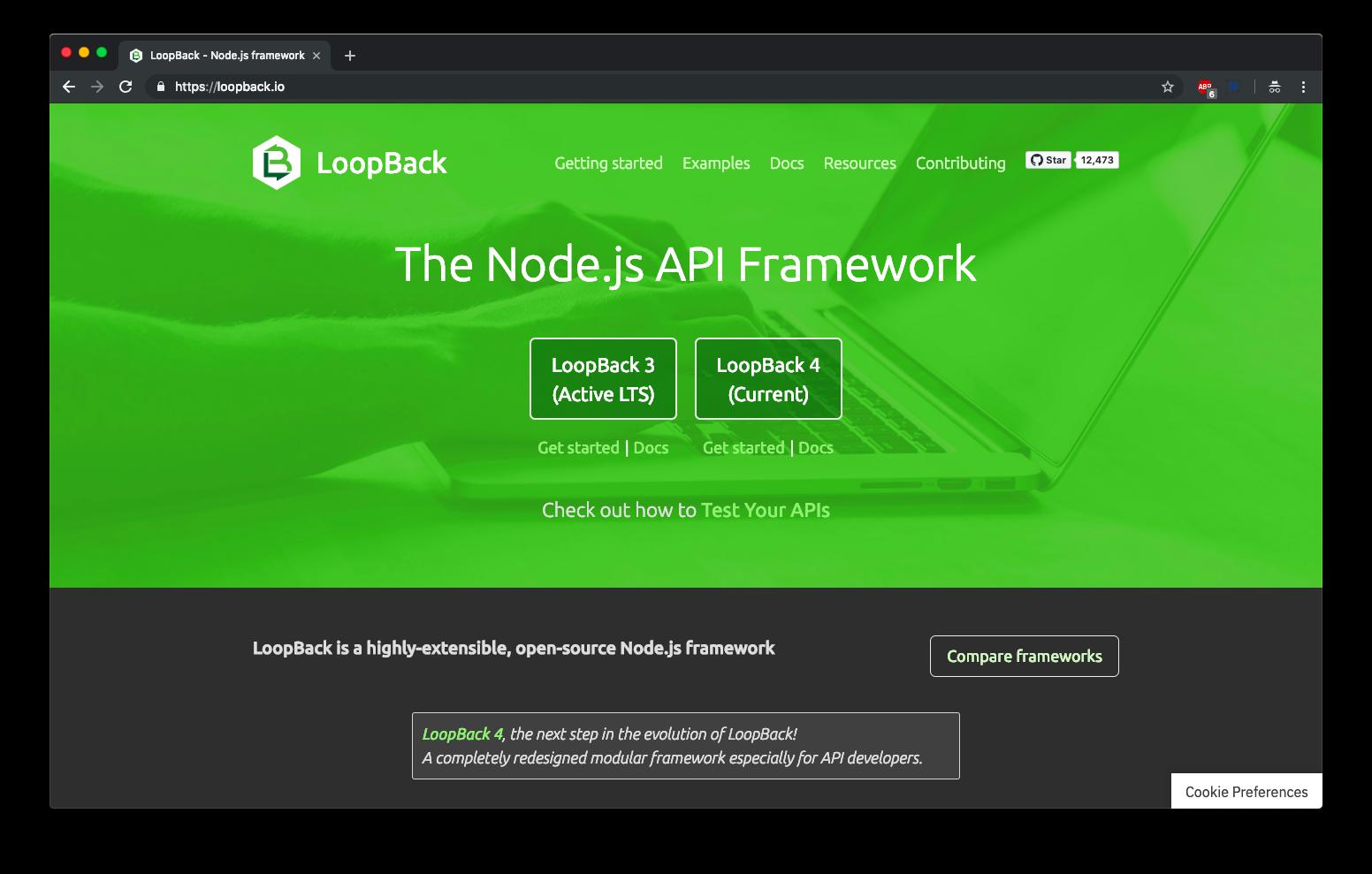 Top 5 handpicked nodejs framework