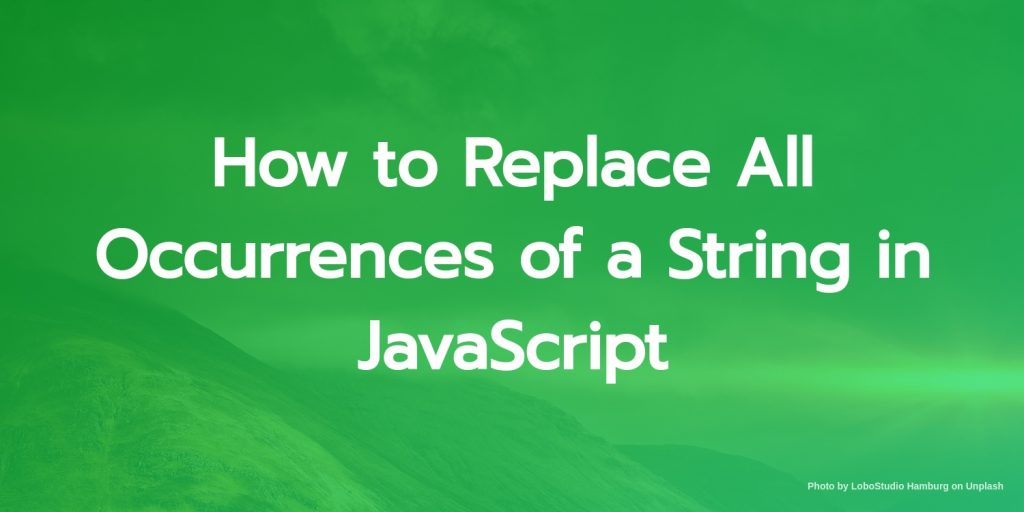 how to replace all occurences of a string