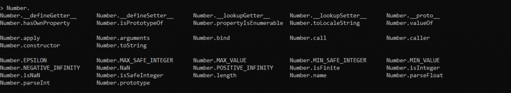 Node Repl Number Object