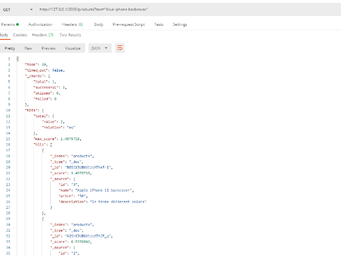Search Engine With Elasticsearch Search Result