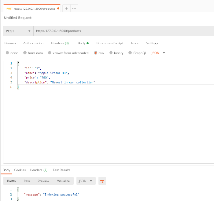 Search Engine With Elasticsearch Test Client