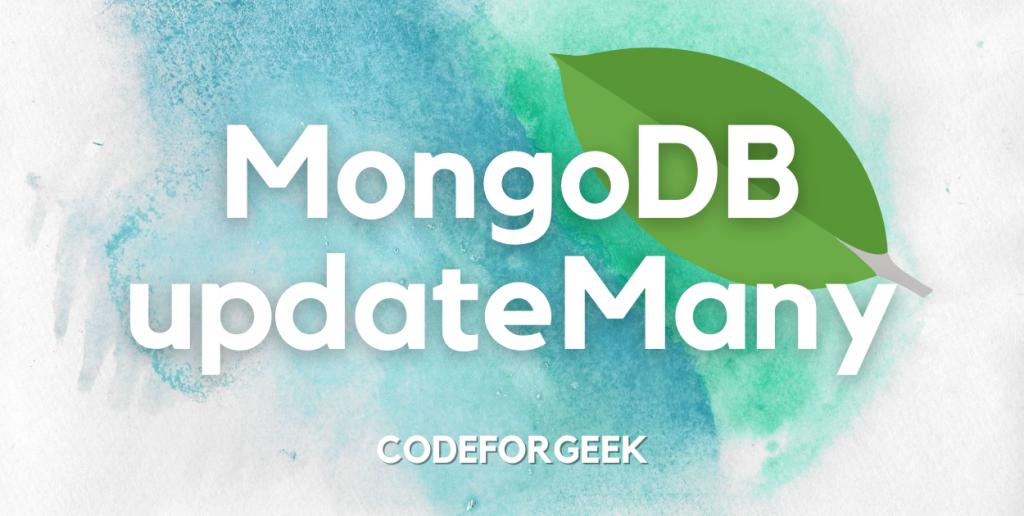 MongoDB UpdateMany Featured Image