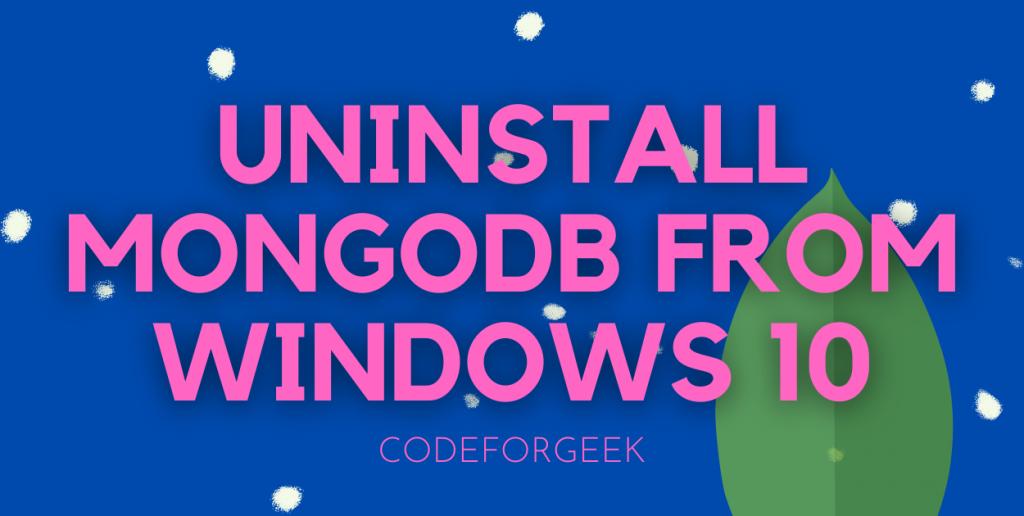 Uninstall MongoDB Featured Image