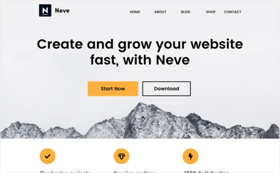 Wordpress Themes For Blogs Neve