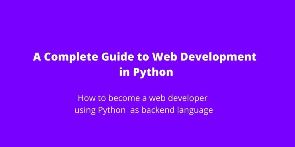 Web Development in Python