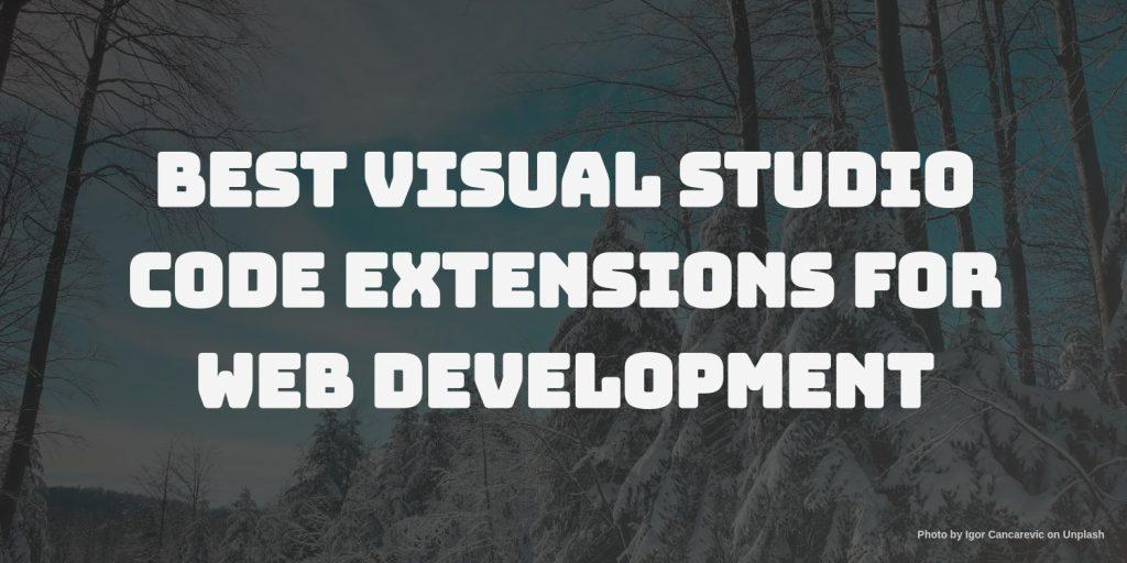 best visual studio code extension