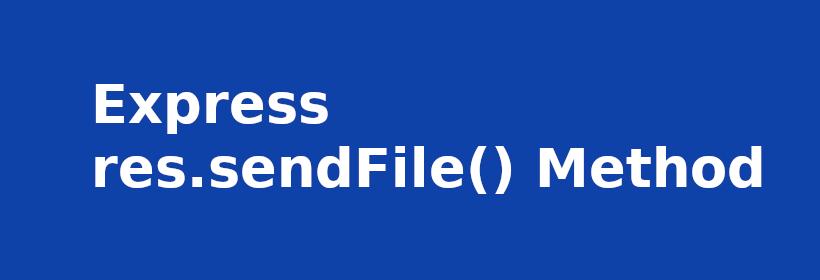 express res sendFile()