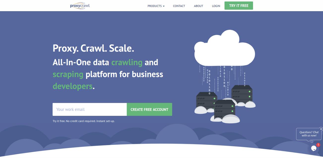 proxycrawl homepage
