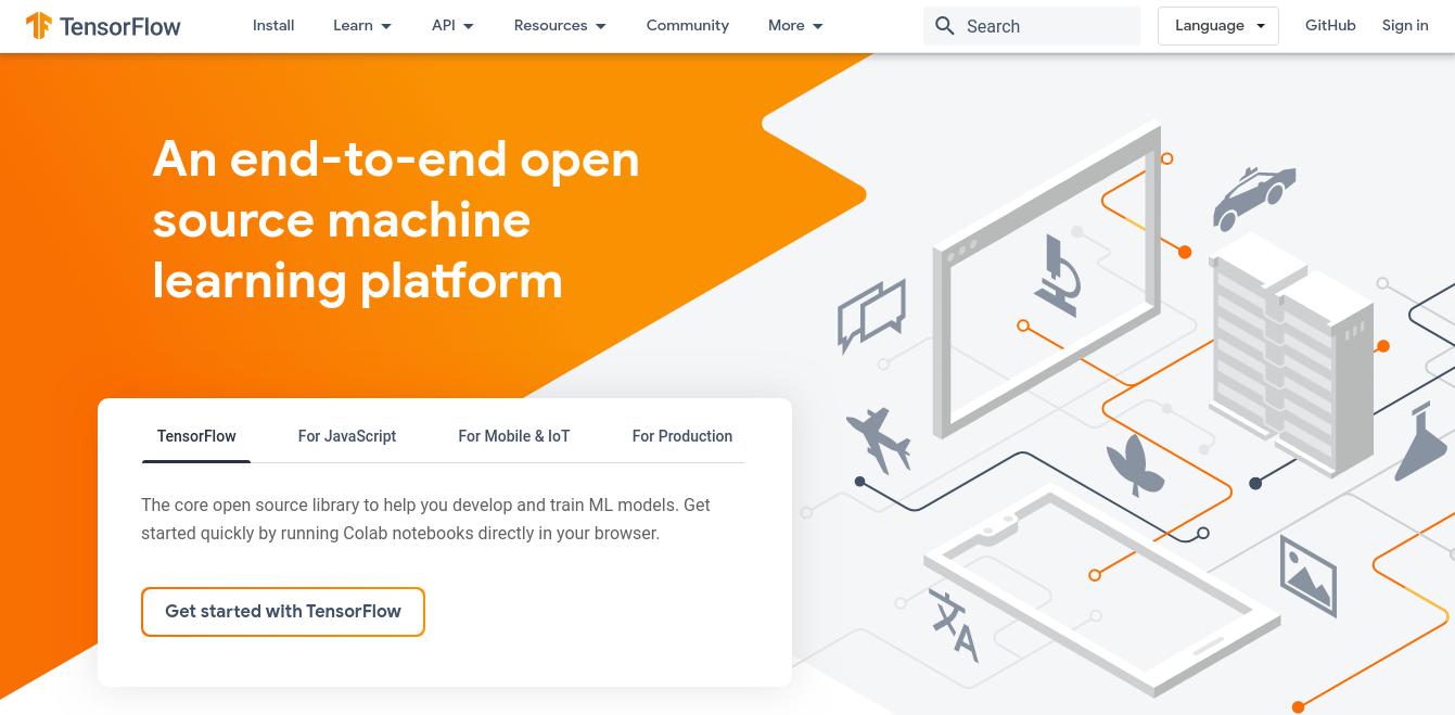 tensorflow homepage